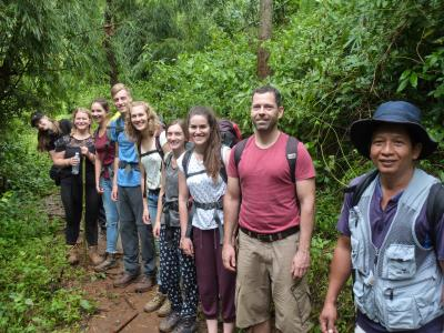 Authentic trekking  With Volonteers  Chirstian German School Chiangmai. | Chiang Mai Trekking | The best trekking in Chiang Mai with Piroon Nantaya